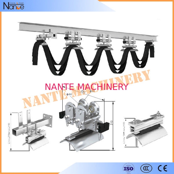 Cranes I Beam Festoon System Heavy Industrial Steel Rail Cable Carrier